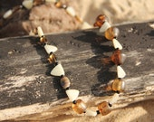 SALE--Tribal Brown and White Necklace