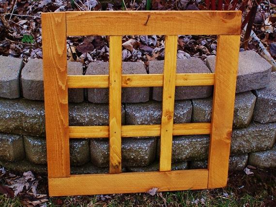 Rustic Cedar Wooden Window Frame Fall Wreath Winter