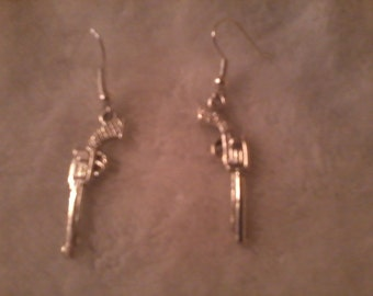 Pistol Earrings FREE shipping