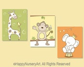 Nursery wall art, nursery wall decor, nursery prints, baby girl wall art, kids wall art, children art, safari animals nursery decor
