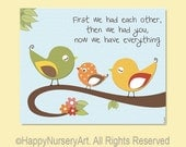 First we had eachother wall art print, boys room decor, nursery wall art. birds family, love quote, children art, kids wall art