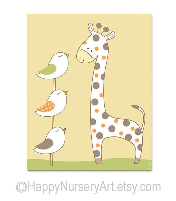 giraffe print wallpaper for nursery