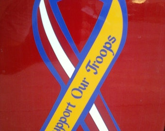 Support Our Troops Vinyl Decal