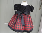Sparkly Plaid Holiday Dress Made to Order