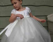 Reserved for Morgan-Silk Flower Girl Dress - Size 2 or 3T