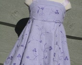 Girls Lavender Or Blue Easter Dress - Sundress - Lavender Size 18 mo In Stock - Blue size NB to Size 5