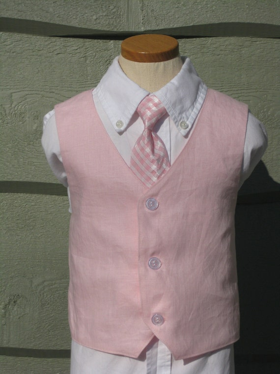 Boys Custom Vest - Made to Order Size NB to Size 10