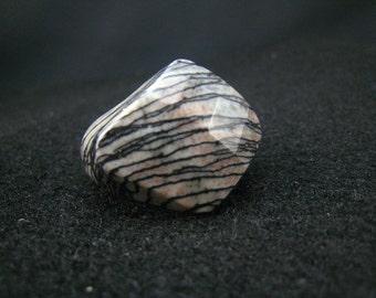 Picasso jasper,stone ring