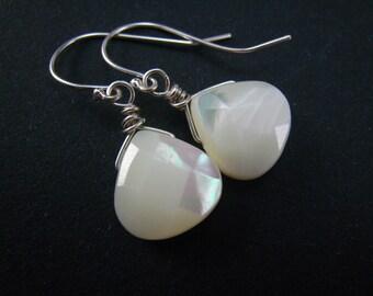 MOP briolette earrings