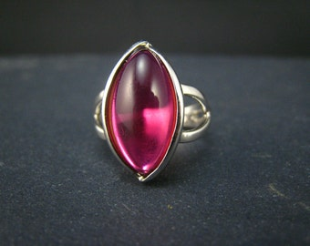Corundum and Sterling Silver Ring-7.75