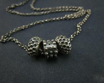 handmade bali style sterling silver small pendant
