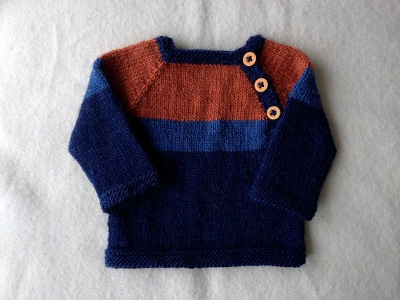 reserved for Mindy:  hand knit toddler sweater with button closure