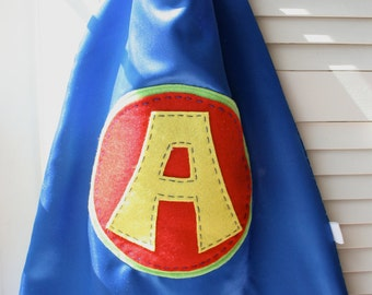 Kids Superhero Cape-PERSONALIZE/CUSTOMIZE - Boys Superhero Costume - Choose the Initial - Superhero Birthday Party