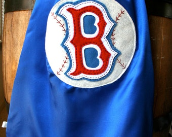Superhero Cape PERSONALIZE/CUSTOMIZE BLUE Baseball Boys Superhero Cape - Choose the Initial - Superhero Birthday Party