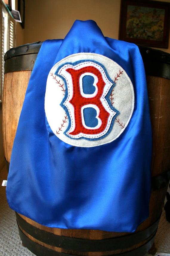 Christmas Superhero Cape PERSONALIZED BLUE Baseball Boys Superhero Cape - Choose the Initial - Superhero Party