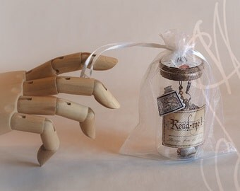 "Romantic message presented in hand personalised steampunk bottle - Message-Q - ""It needs time, to win back your love again"""