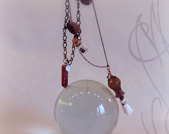 """Handcrafted and fine necklace with steampunk touch - Necklace 11 - """"My little secret"""""""