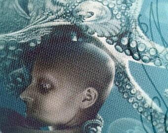 """Digital work print on canvas - """"Insomnia"""" - 20 x 30 x 2 cm"""