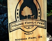 Turn your logo into a carved wood sign