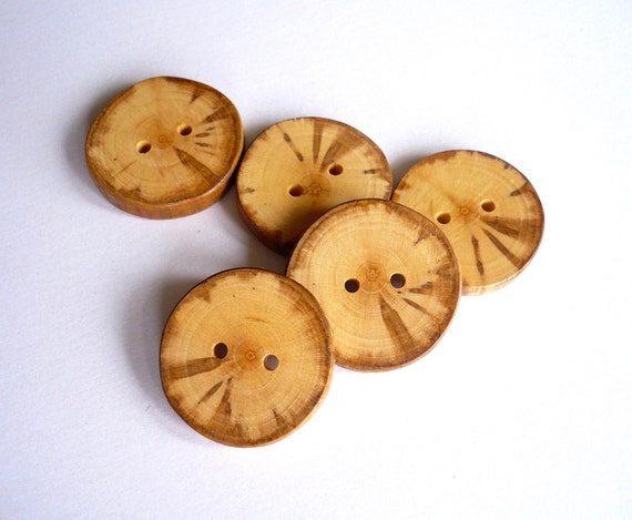 Wooden Buttons - Apple Tree - Set of 5