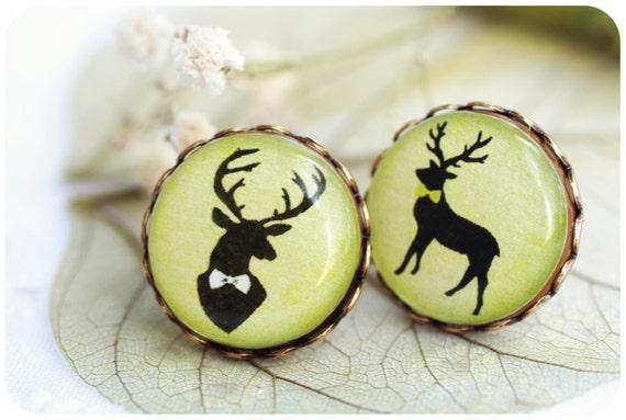 Deer Gentleman  Earrings