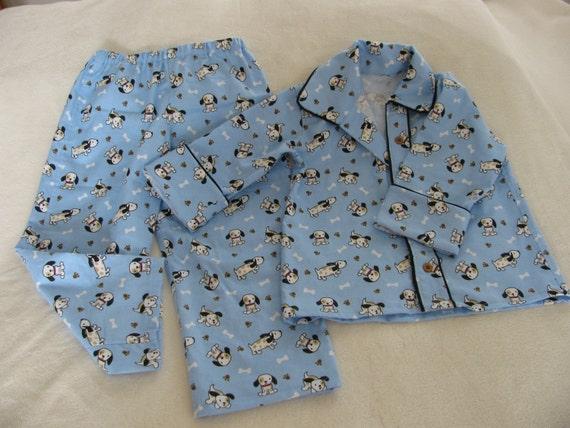 Boys Pajamas Puppy  Size 4 to 5