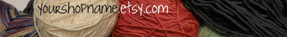 Etsy Shop Banner. Premade custom shop banners.