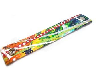 Rainbow Cuff - Organic Hemp Fiber Bracelet - Hand Painted Jewelry - Rainbows - Colorful Jewelry - Multicolored Cuff Bracelet - Wrist Band