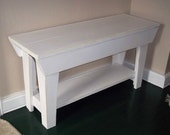 32 inch Handmade Bench, Furniture, Seating, Wood Bench,Shabby n Chic sofa bench, chair, entry bench, mudroom bench, foyer bench.