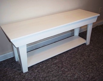 Wood Bench  - Bench Seating , 48 Inch Bench,  Sofa Bench