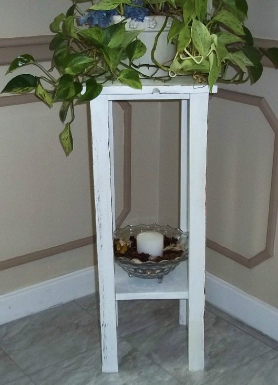 Distressed shelves for plant stand --Furniture