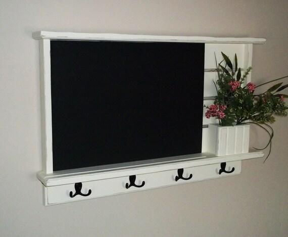 chalkboard, wall shelf, shabby distressed chic  furniture chalkboard, chalk board ,key holder. mail holder, message board, shabby chalkboard