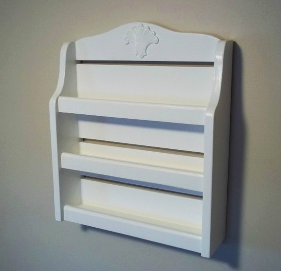 Shabby Spice Rack   Furniture, Nail Polish Holder , Shelf, Wall Shelf, Shelves, Kitchen Storage,