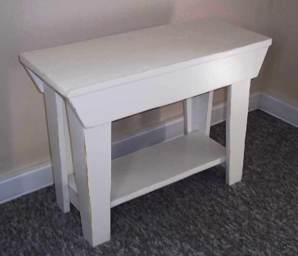Shabby 24 Inch Entry Wood Bench Furniture Entryway Bench