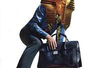 """Art Collage-- Fashion-- 9X12"""" Egyptian Metro Man Fashion"""