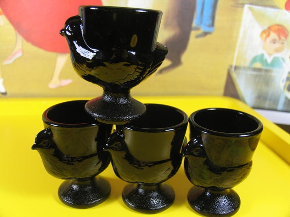 Set of 4 vintage French Egg Cups