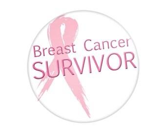 Breast Cancer Survivor Pinback Button - You're Looking at a Survivor