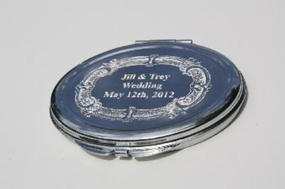 Engraved Mirror 5 Compact Bridesmaid Gift Wedding Engrave Your Own Photo and Text New personalized gift