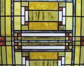 Vintage Frank Lloyd Wright Sun Catcher Stained Glass Oak Park Skylight Design