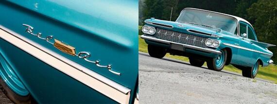 1959 Chevrolet Bel Air Front Fender Emblems Set Of 2