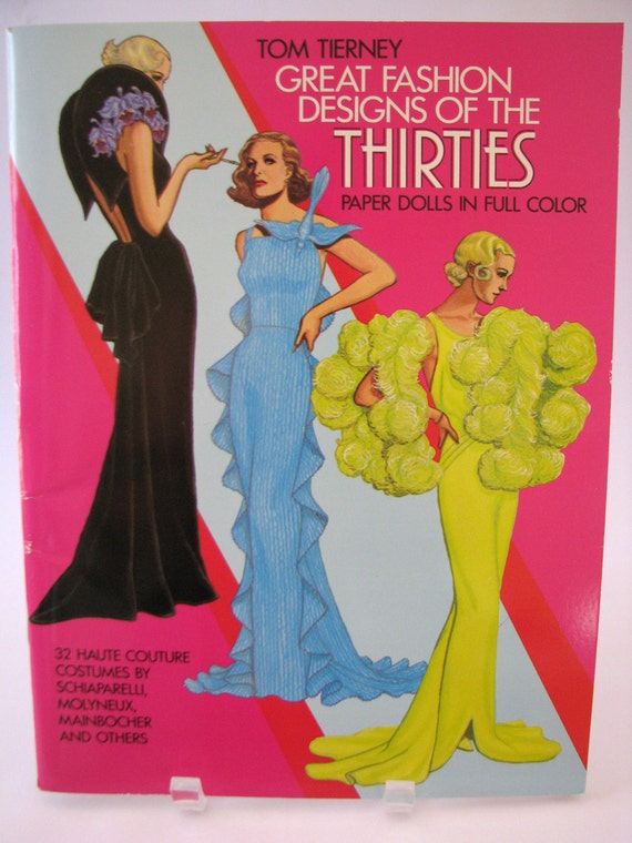 Vintage Paper Dolls Great Fashion Designs of the Thirties by Tom Tierney Dover 1984