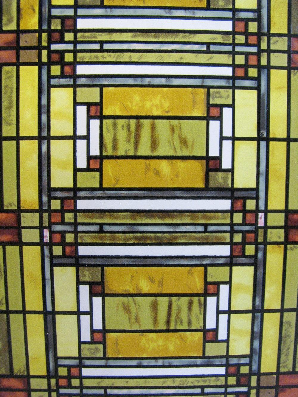 Vintage Frank Lloyd Wright Sun Catcher Stained Glass Oak Park
