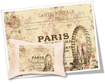 Digital Collage Sheet Download - Paris Carte Postale Image Transfer -  360  - Digital Paper - Instant Download Printables
