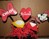 Personalized Minnie Mouse Centerpiece