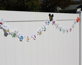 Mickey Mouse Glove Banner in Clubhouse colors