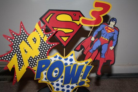 Superman/Super Hero Centerpiece