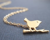 Tiny Bird 14k Gold Filled Necklace - simple everyday jewelry - Bridesmaid,Wife, Girlfriend, Mother Gift Idea - bird necklace