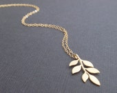 Six Leaves 14k Gold Filled Necklace - simple everyday jewelry - Bridesmaid, Wife, Girlfriend, Mothers Gift Idea