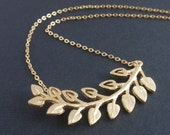 Multi Leaves 14k gold filled necklace-Lovely everyday jewelry- Bridesmaid,Wife, Girlfriend, Mothers Gift Idea