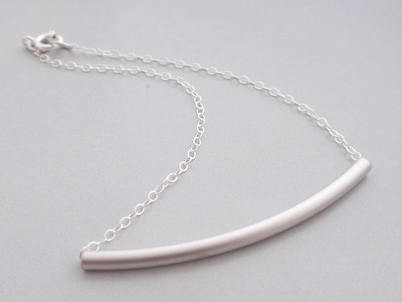 Tube Sterling Silver Bracelet -simple everyday jewelry- Bridesmaid,Wife, Girlfriend, Mothers Gift Idea